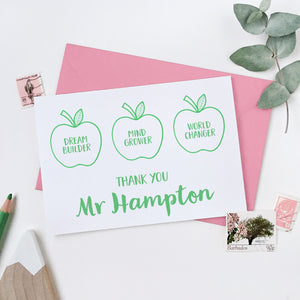 Personalised Apples For The Teacher Card - Clara and Macy
