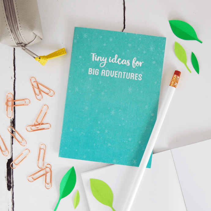 Tiny Ideas For Big Adventures Notebook - Clara and Macy