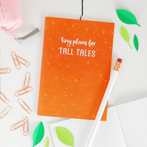 Tiny Plans For Tall Tales Notebook - Clara and Macy