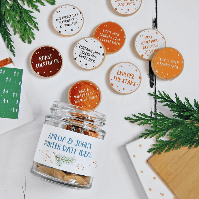 Personalised Couple's Winter Date Ideas Jar - Clara and Macy