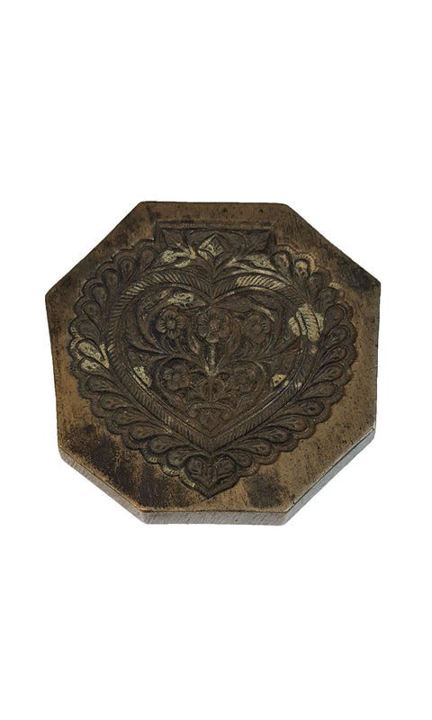 Small Vintage Brass Stamp - Heart