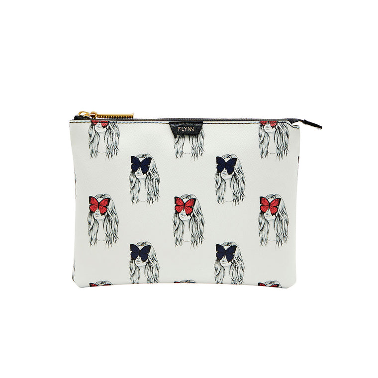 Madison Clutch - Butterfly Eyes - Parisian