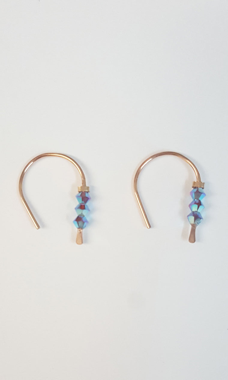Mini HoopEarring - Iridescent