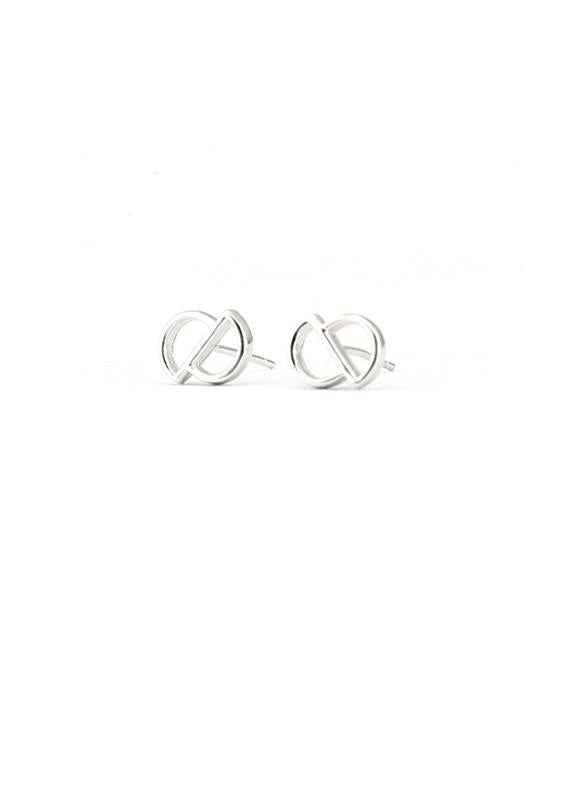 Cavo Circle Stud Earring - Silver