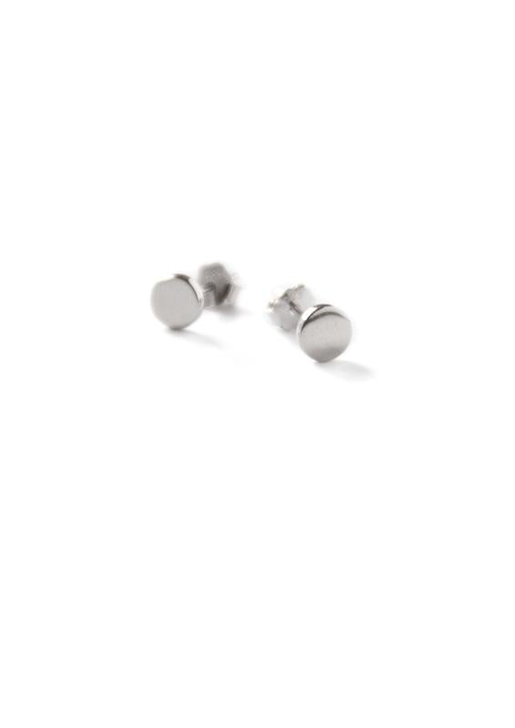 Silver Circumference Stud Earring