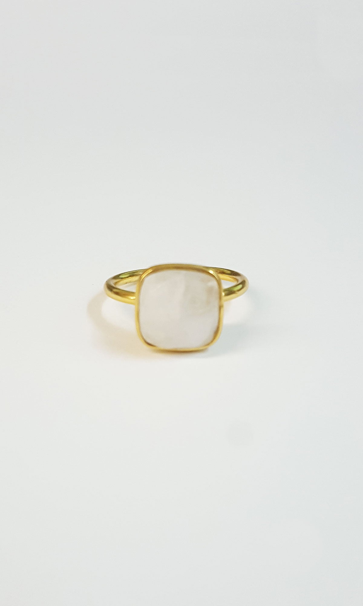 Cushion Ring - Moonstone