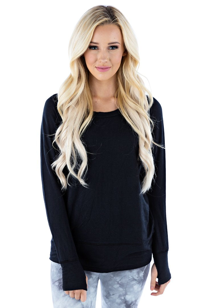 Organic Raw Pullover - Dark Black