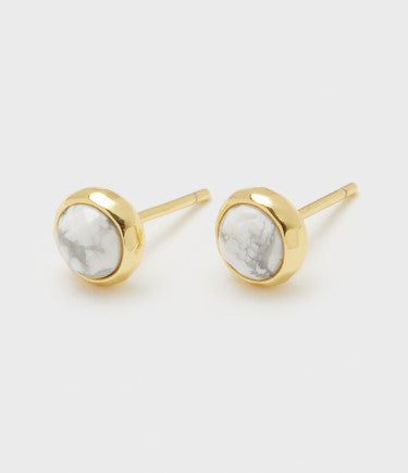 Power Gemstone Stud Earring