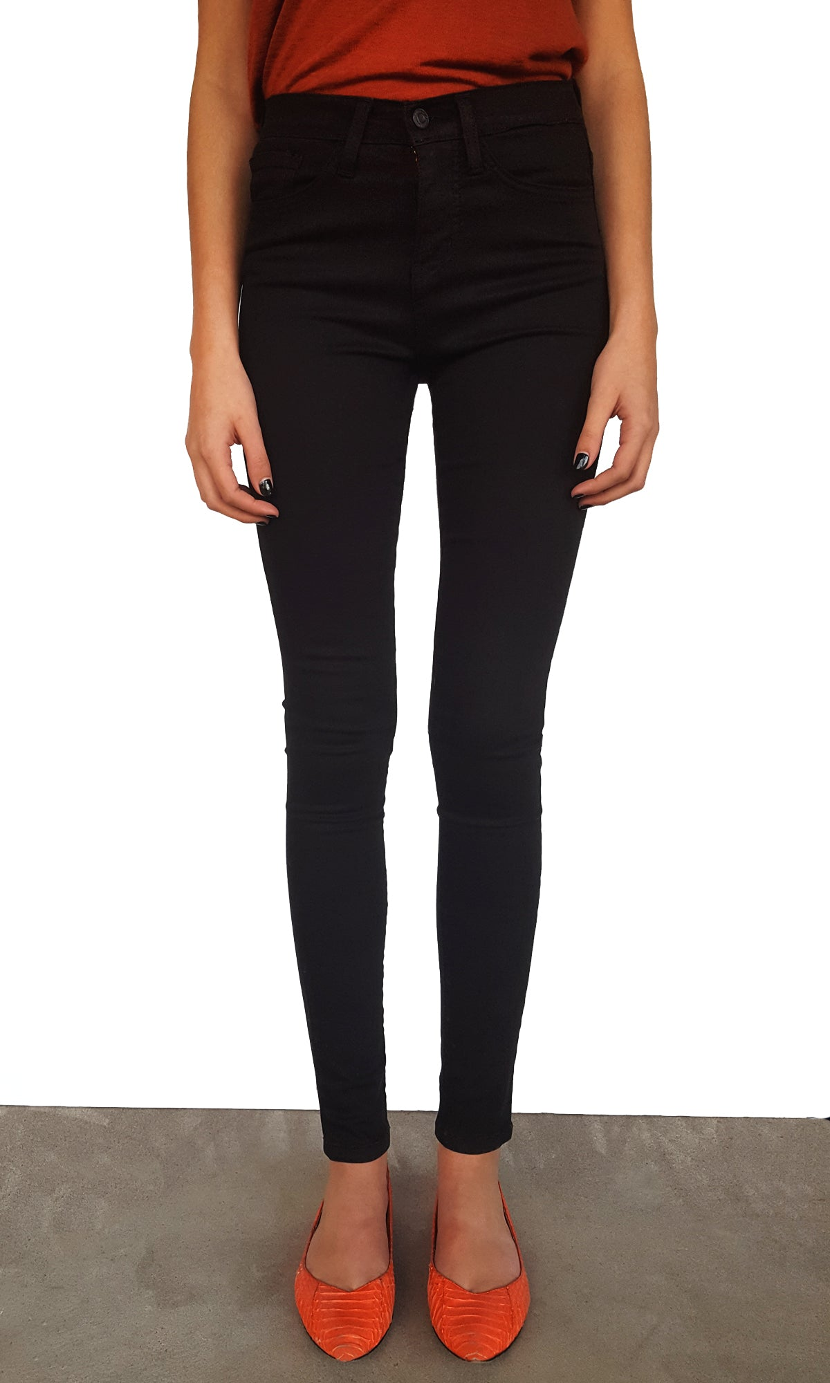 High Waist Skinny - Black
