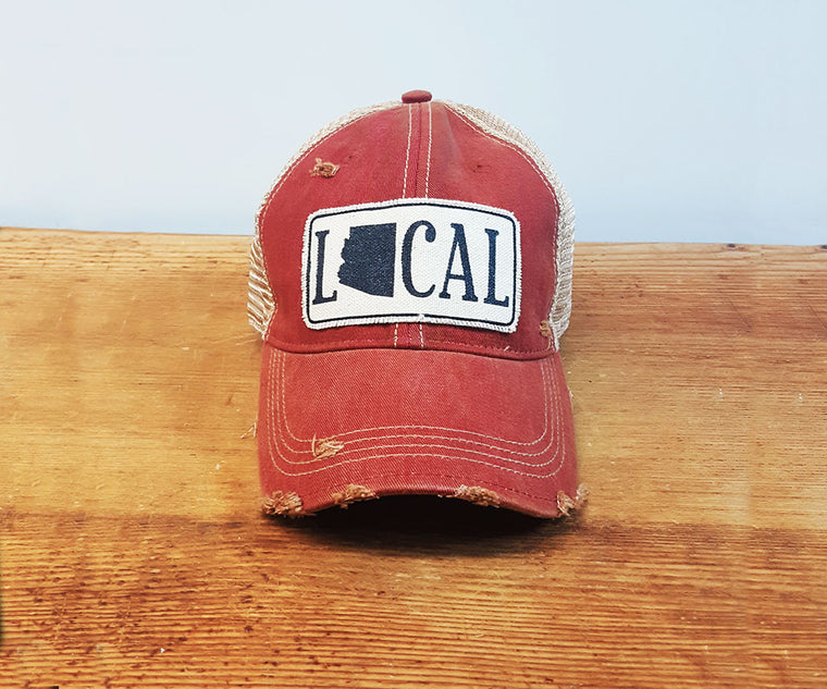 Comfy Trucker Hat - Local AZ - Card. Red