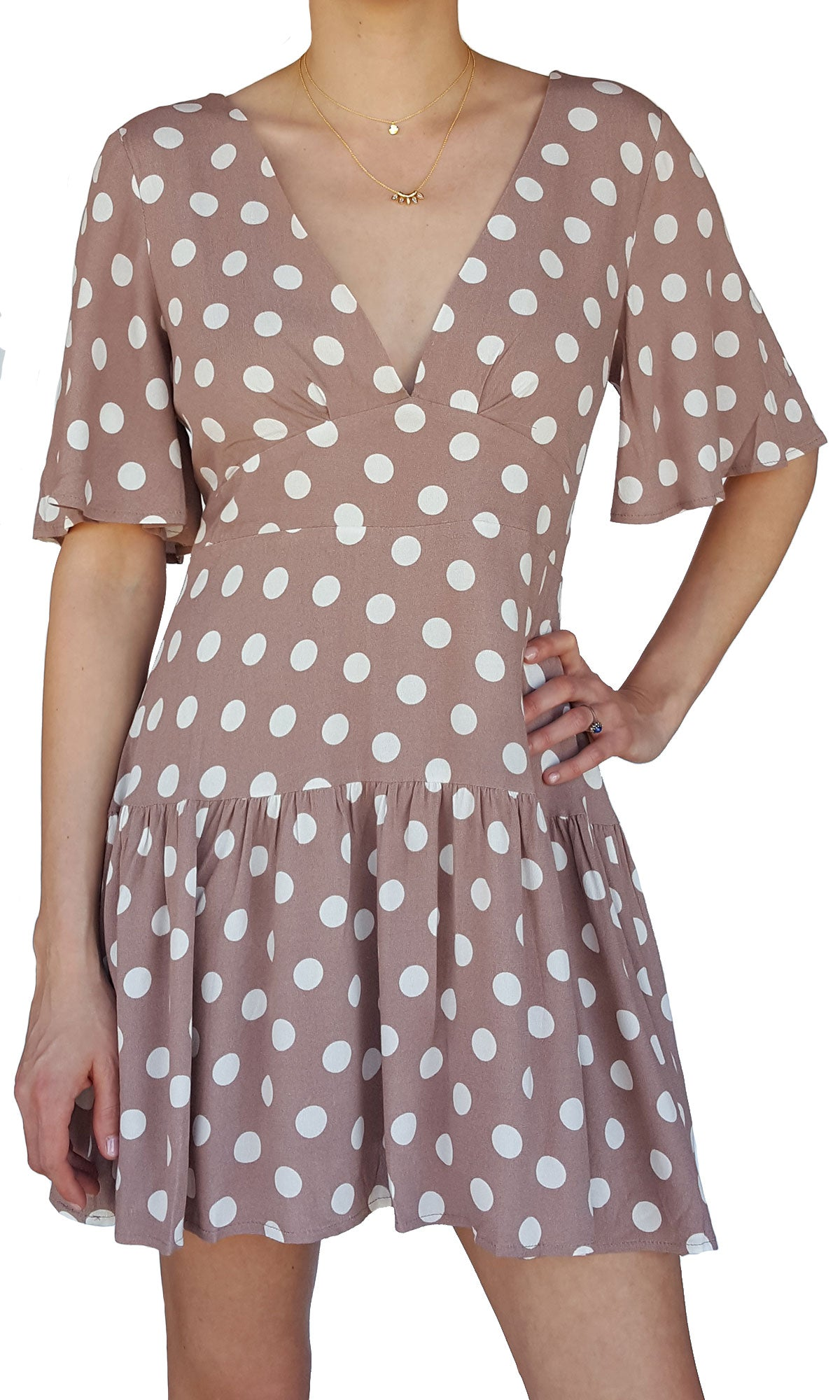 Luciana Polka Dot Shift Dress