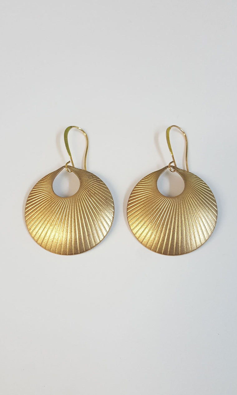 Sun Beam Earring - Gold