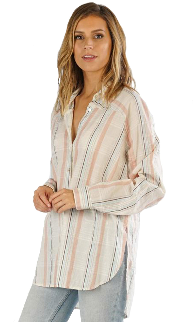 Yarn Dye Button Down - Pale Plaid