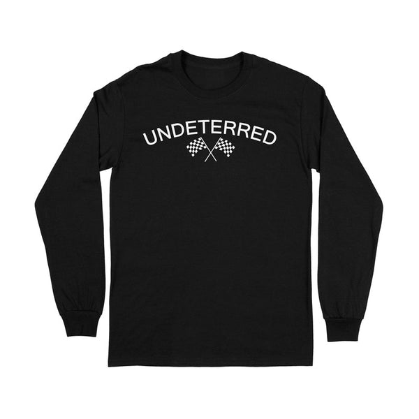 UNDETERRED Logo Long Sleeve Tee - Black