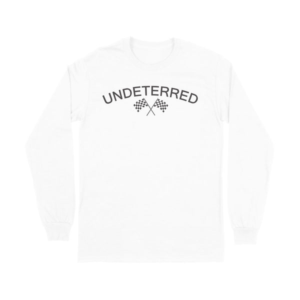 UNDETERRED Logo Long Sleeve Tee - White