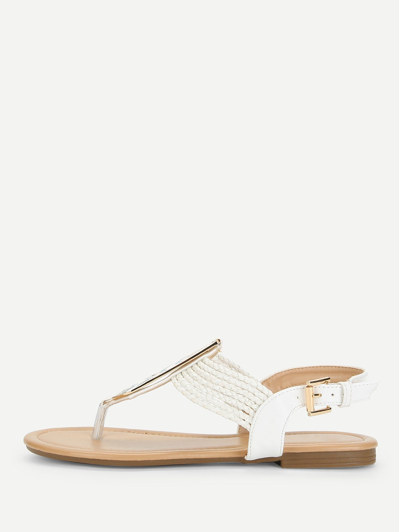 Metal Detail Toe Post Sandals