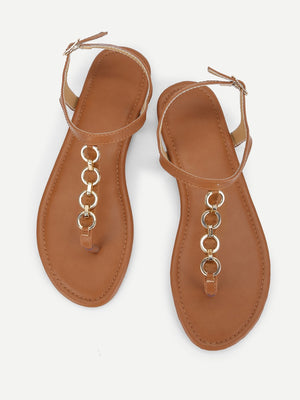 Chain Decorated Sandals