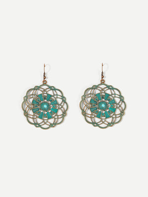 Hollow Round Drop Earrings 1pair