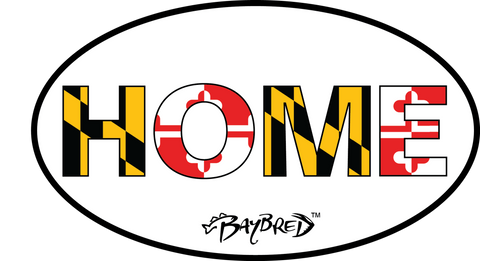 Oval Bay Bred™ HOME Decal