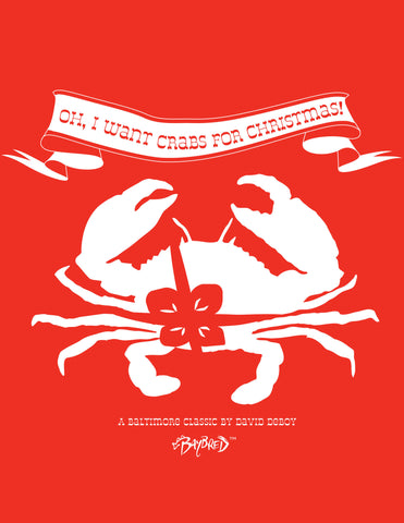 Crabs For Christmas Ladies Long-Sleeve Tee