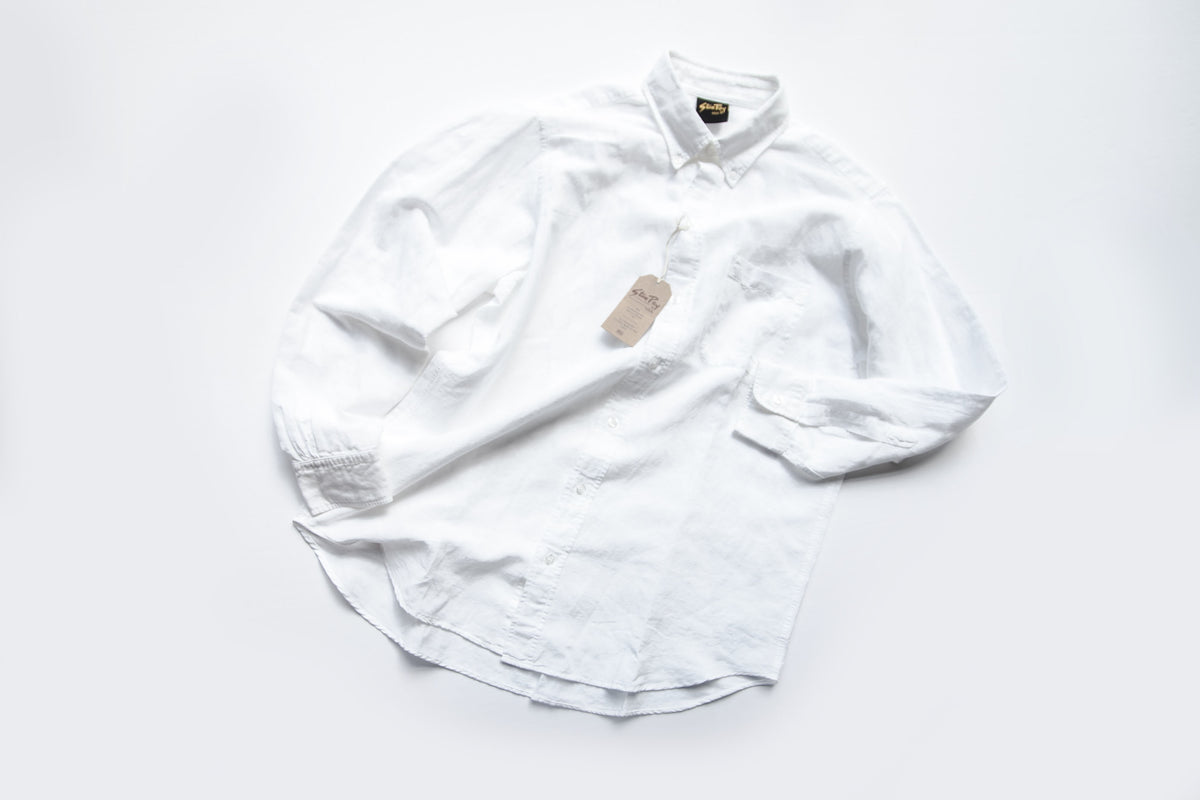 "STAN RAY FW18: BROOKLYN LS SHIRT ""WHITE"""