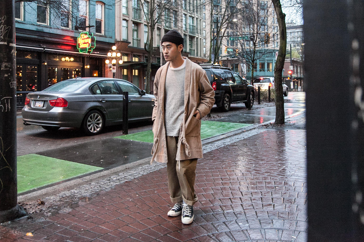 WRAP COAT | RAFFY TEE | GURKHA PANTS