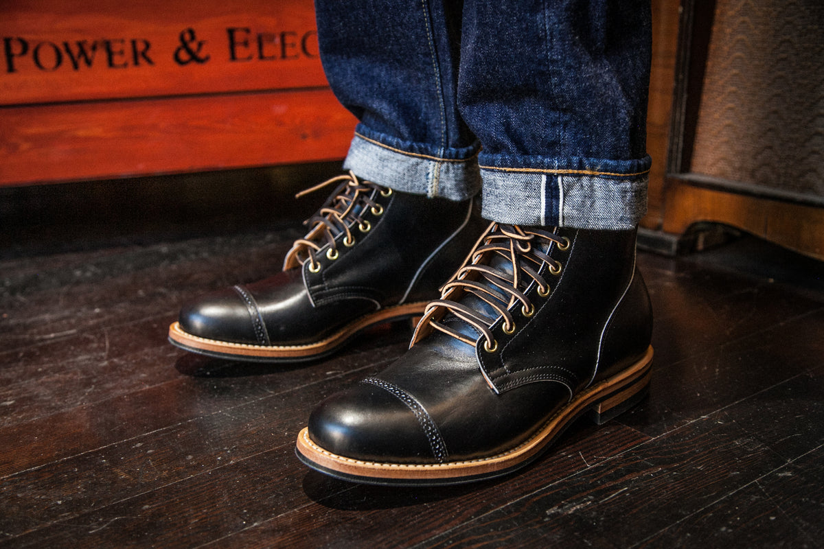 VIBERG: BLACK ORTHO CALF