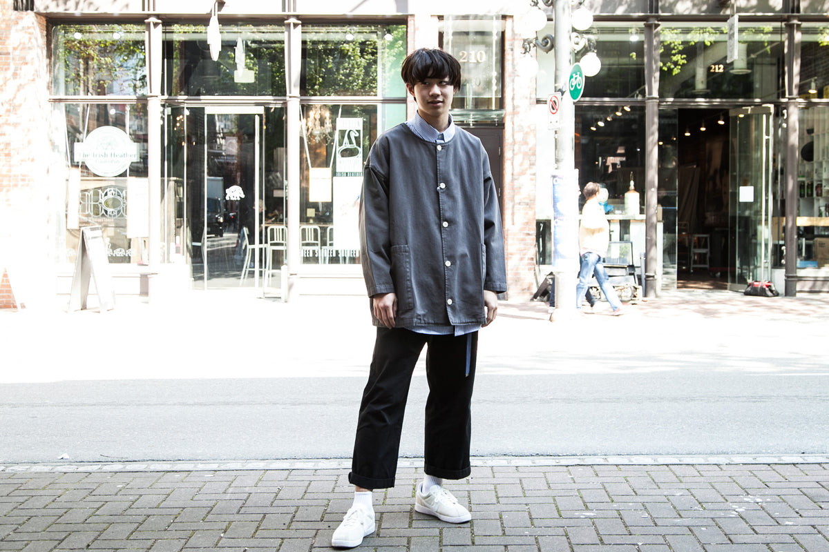"PROSPECTIVE FLOW SS18: RAN JACKET ""FADED BLACK"" WITH SUSUMU SAN"