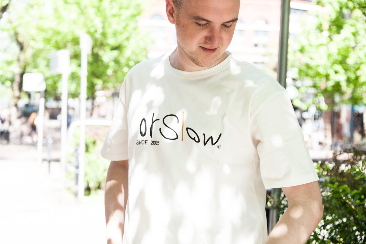 ORSLOW SS18: ORSLOW LOGO T-SHIRT WITH MICHAEL V.
