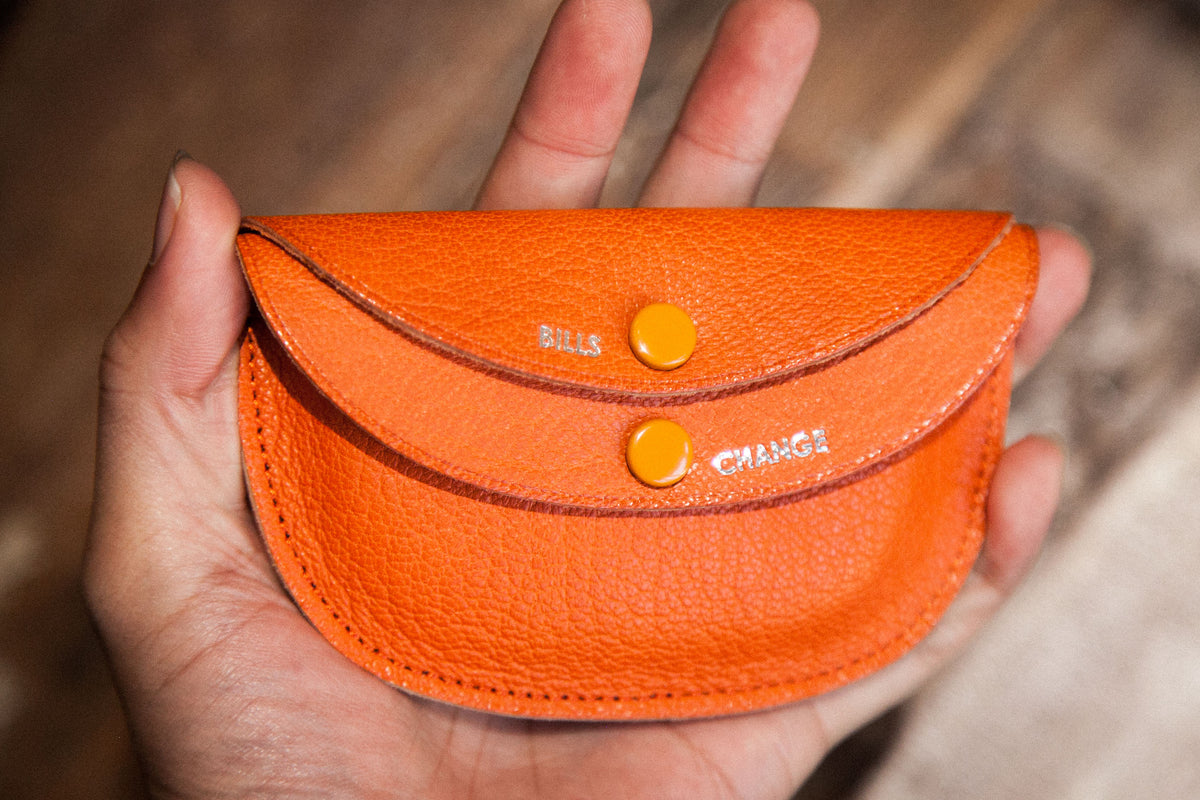 "KAPTAIN SUNSHINE X PORTER SS18: ROUND WALLET ""ORANGE"" (UNBOXING)"
