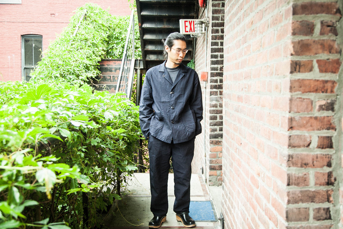 ANACHRONORM SS18: WORK LAPEL JACKET / POCKET TEE / WIDE EASY PANTS (INDIGO)
