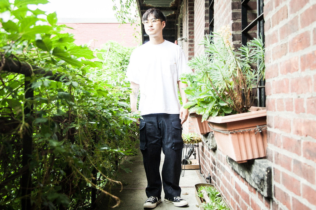 ANACHRONORM SS18: POCKET TEE / DENIM COMBAT PANTS