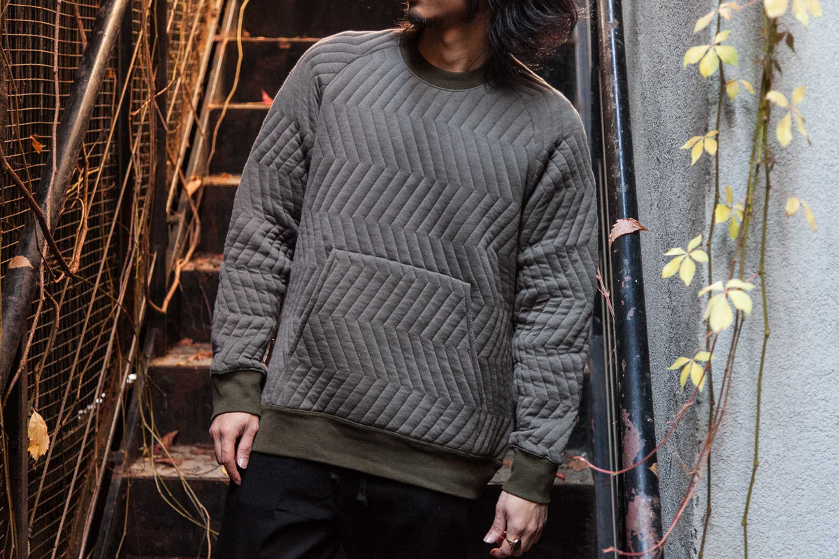 GERMAN KNIT CREWNECK SWEAT | NEW YORKER PANTS