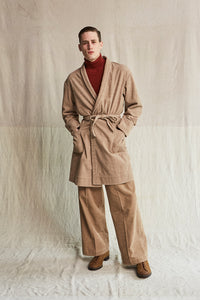 ARMY WRAP CHORE COAT - BISQUE