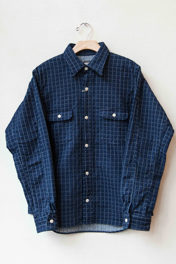 SASHIKO RAGLAN SLEEVE WORK SHIRT