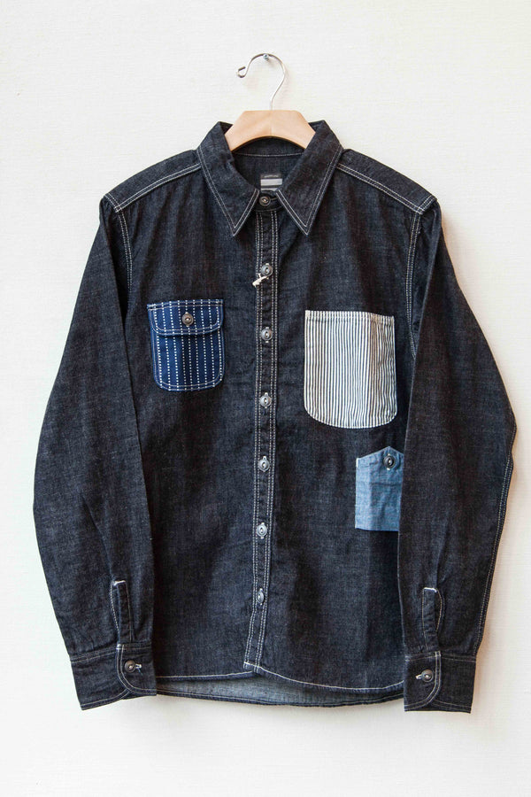 8 OZ DENIM MULTI POCKET WORK SHIRT