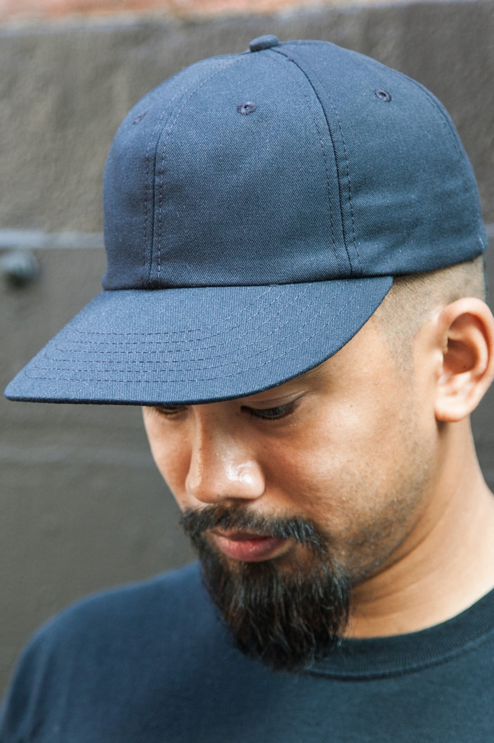 SIX PANEL CAP NAVY COTTON TWILL