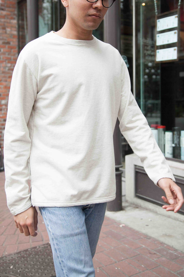 LONG SLEEVE TEE V. 2- OATMEAL