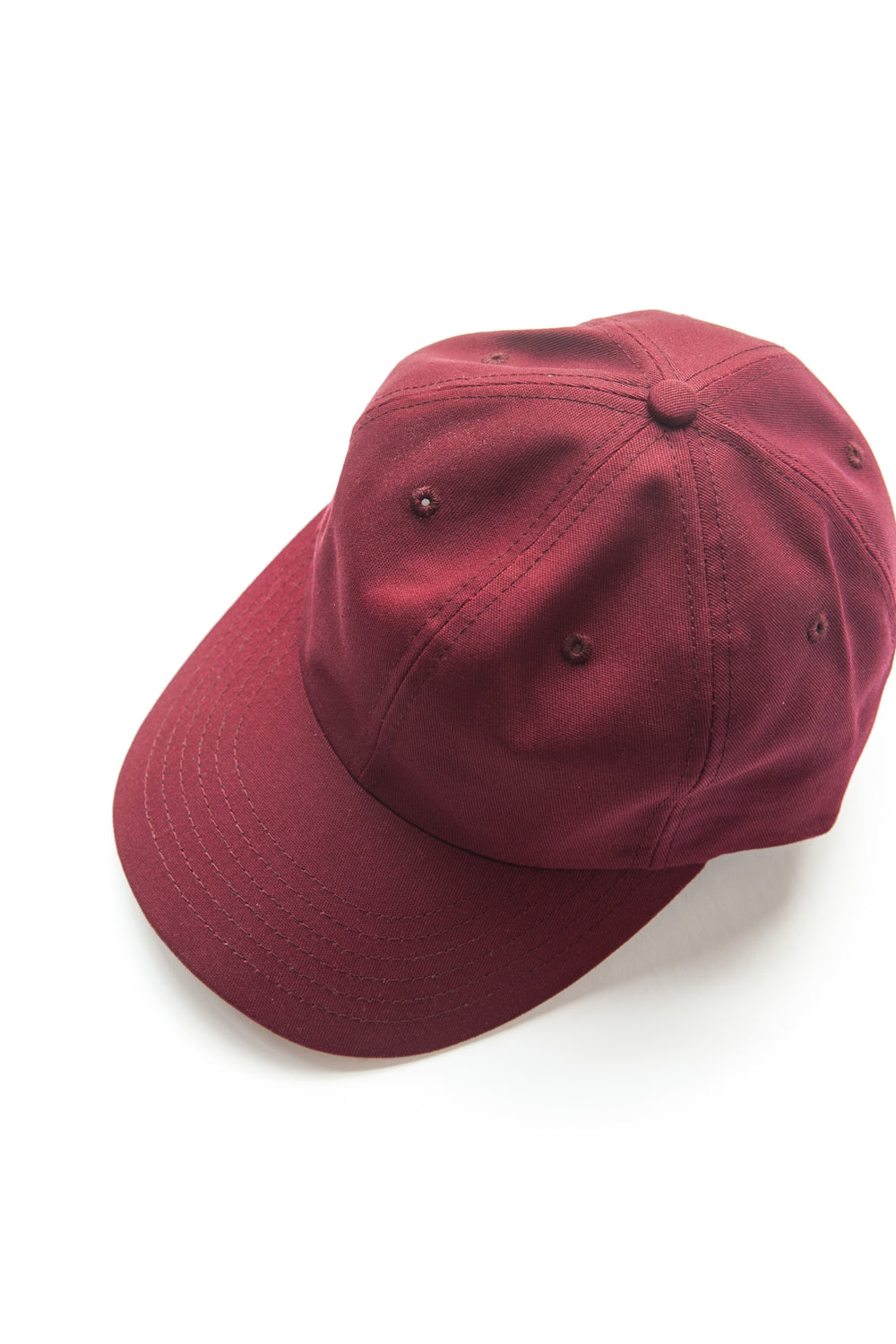 SIX PANEL CAP BURGUNDY COTTON TWILL