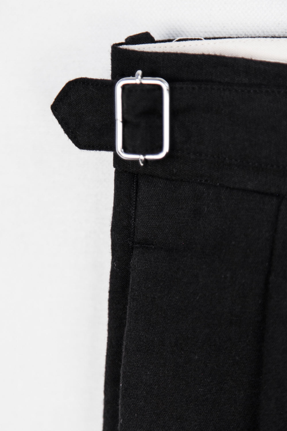 SIDE BUCKLE GURKHA TROUSERS - BLACK