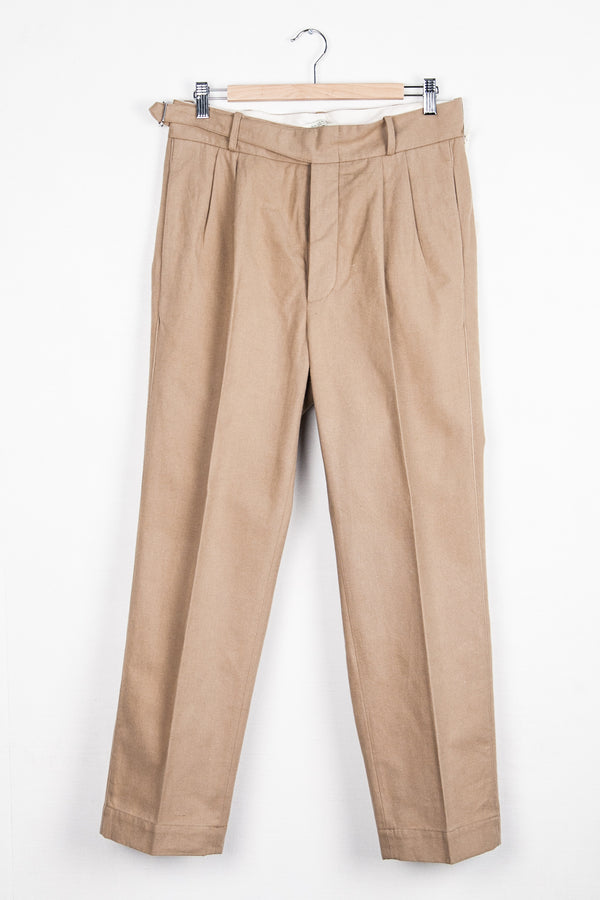 SIDE BUCKLE GURKHA TROUSERS - BISQUE