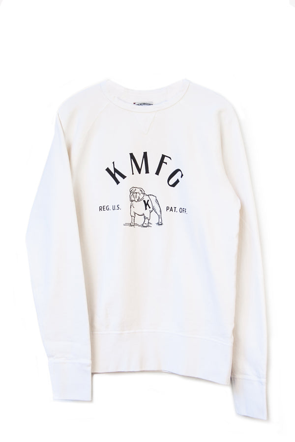 BULLDOG CREW NECK FLEECE - MILK