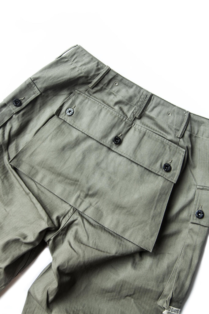 P44 CROPPED PANTS GREEN
