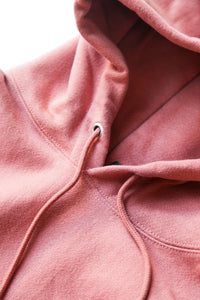 REVERSE WEAVE PULLOVER HOOD PICANTE PINK