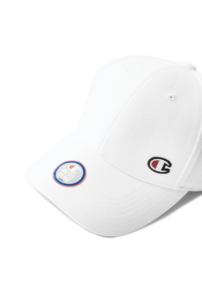 "CLASSIC TWILL HAT ""C"" PATCH WHITE"