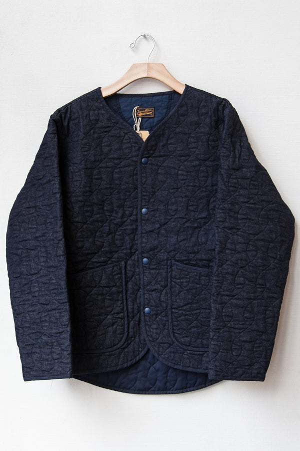 QUILTING NO-COLLAR JACKET