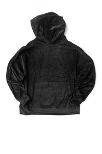 VELOUR CAPUCHE BLACK
