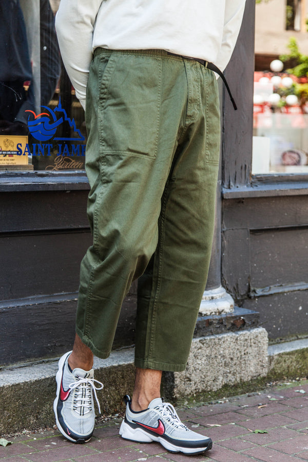 LOOSE TAPERED EASY PANTS - OLIVE