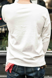 HENLEY LONG SLEEVE TEE – WHITE