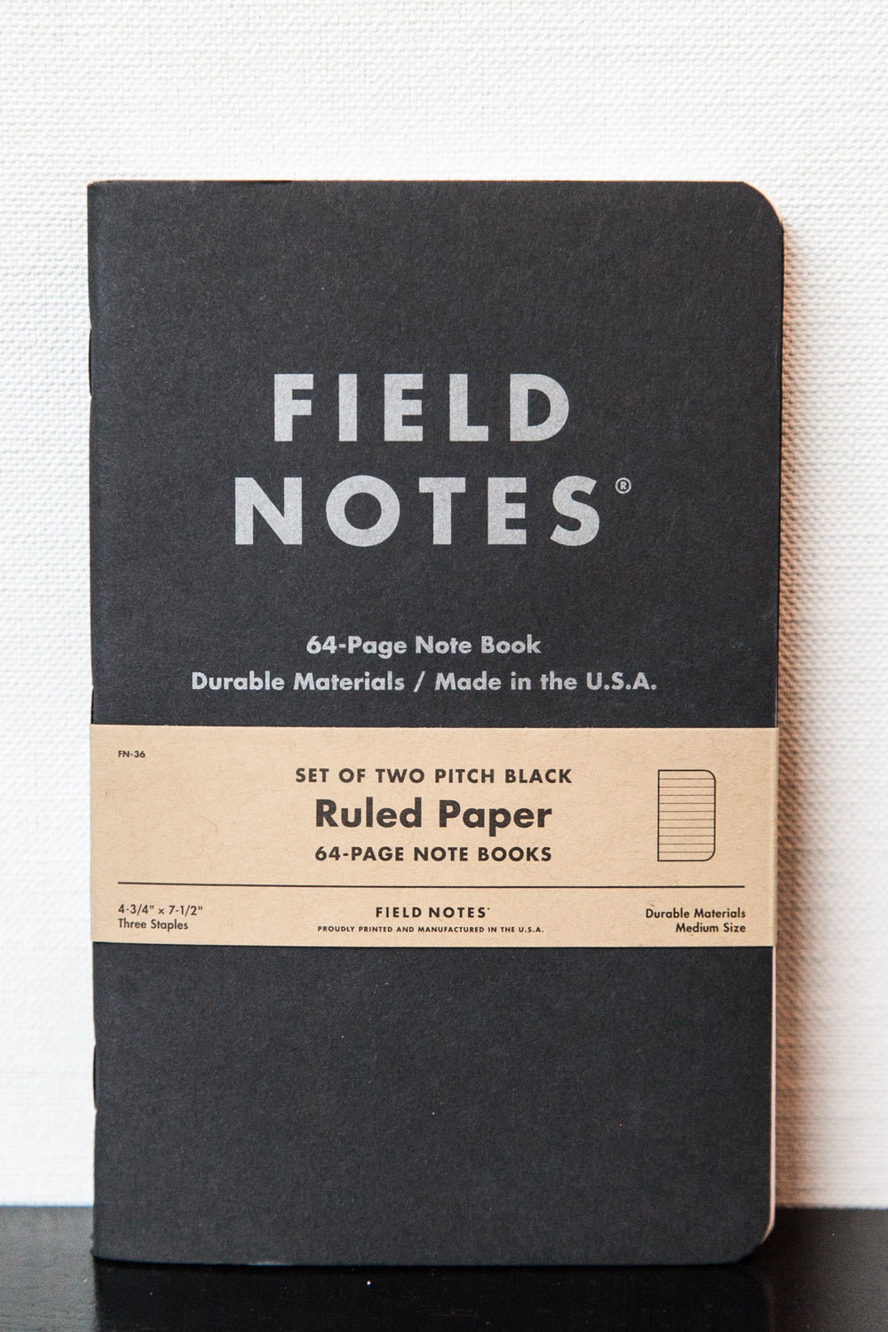 "PITCH BLACK MEMO BOOK 2-PACK LARGE ""RULED"""